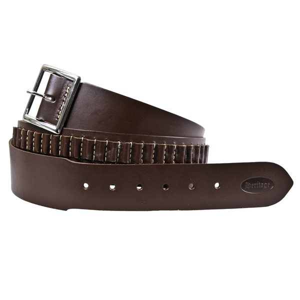 MEX ANTIQUE BROWN CARTRIDGE BELT SM  SSMALL BORE