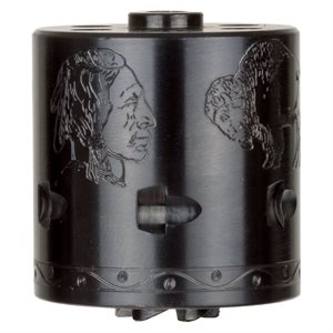 ENGRAVED BUFFALO NICKEL HOMAGE HERITAGE .22WMR CYLINDER 6 SHOT