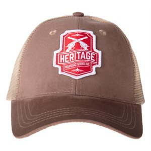 Heritage Trucker Hat Custom Woven Patch and  Authenticity Label